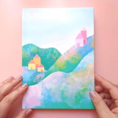 Hardcover Journal, Pastel Hills