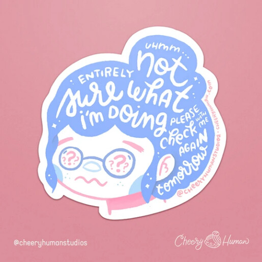 Sticker, Hair Emotions - Not Sure