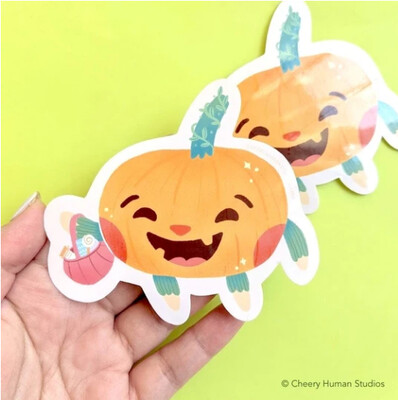 Sticker, Peppie the Pumpkin