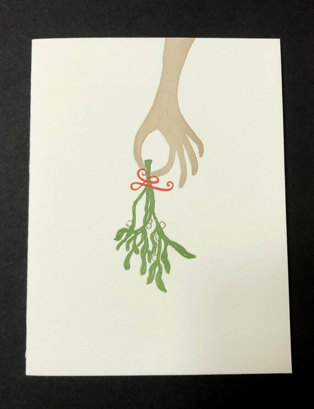 Holiday Card, Mistletoe