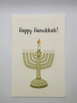 Holiday Card, Happy Hanukkah Coloring Card