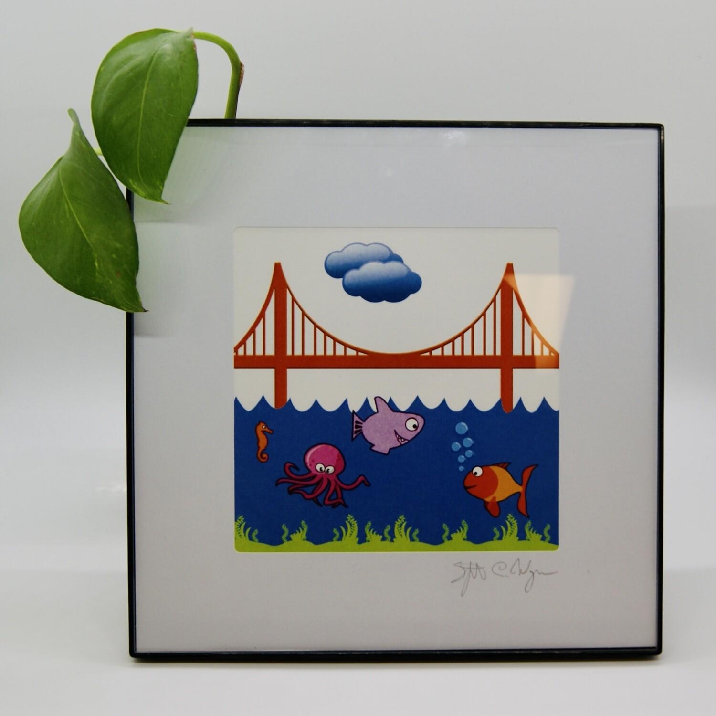 SFantastic #1105 GGB Under the Sea 5x5 Print Framed