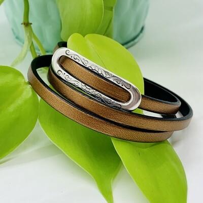 Triple Wrap Bracelet, Classic Chic - Copper