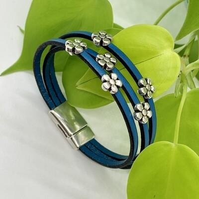 Daisy Bracelet, Blue