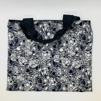 Gray Zombies Halloween Tote