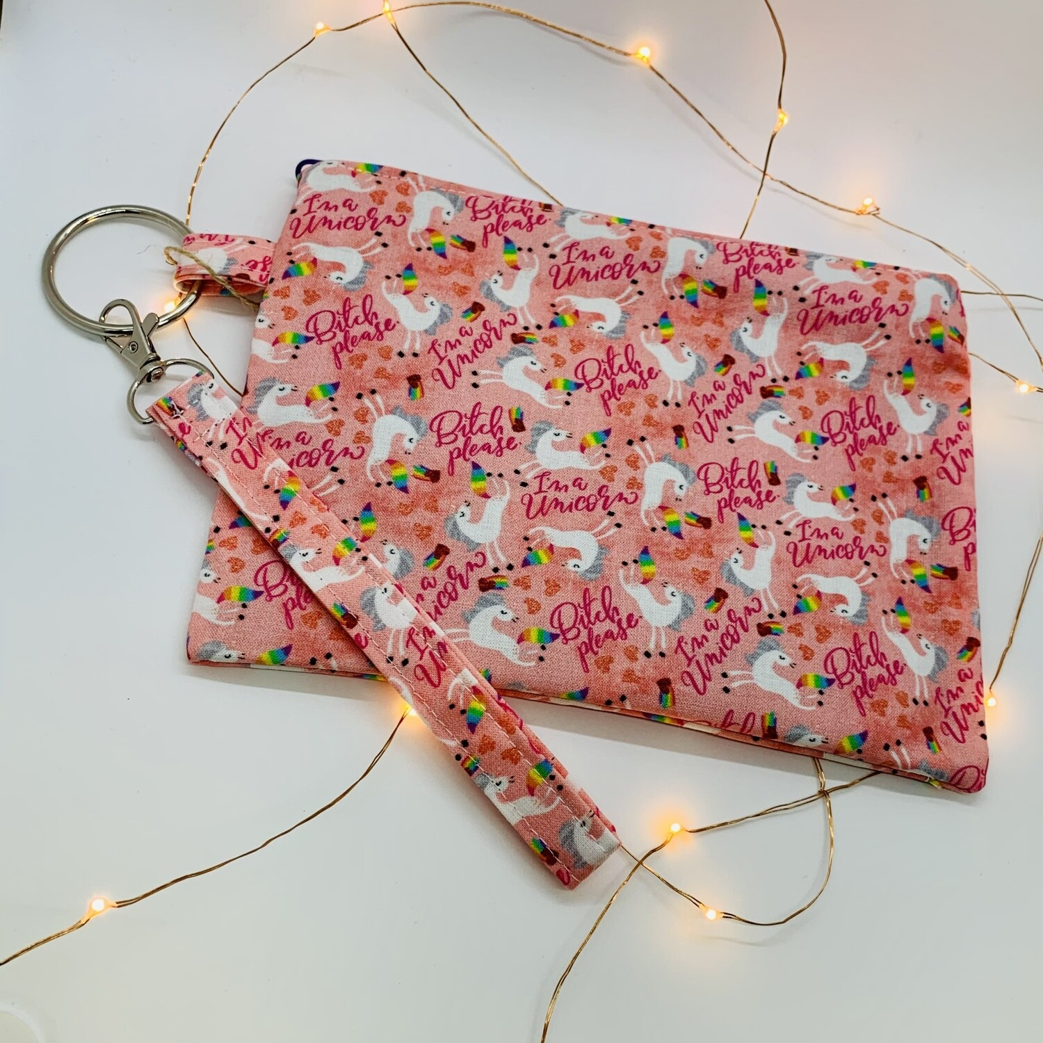 Sassy Clutch, Pink Unicorn
