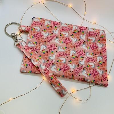 Sassy Clutch, Pink Unicorn