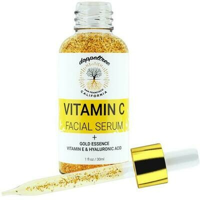 Vitamin C Facial Serum with 24K Gold Flakes