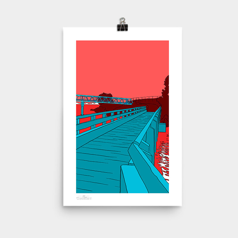 Bay Farm Bridges Poster, 11x17