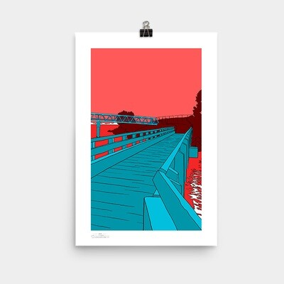 Bay Farm Bridges Poster, 11x17