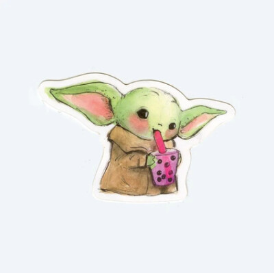 Boba Yoda Sticker