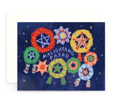 Maligayang Pasko Night Parols Card
