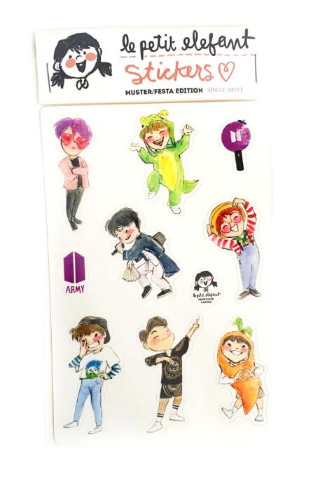 BTS Muster Sticker Sheet