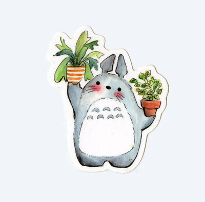 Totoro and Plants Sticker