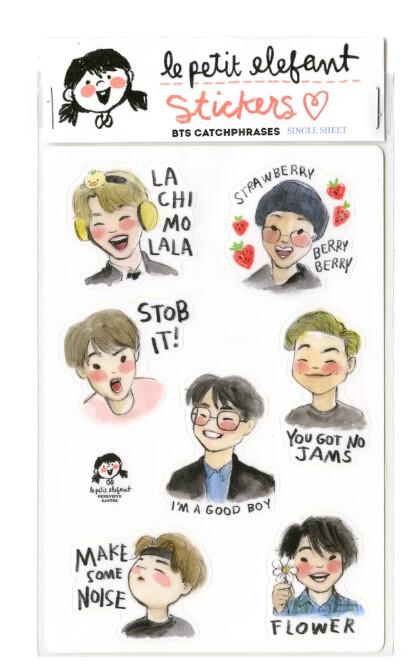BTS Catchphrase Sticker Sheet
