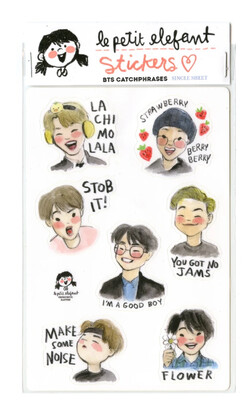BTS Catchphrase Sticker Sheet