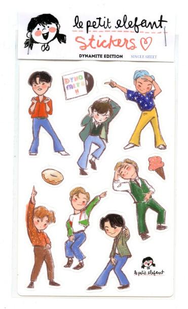 BTS Dynamite Sticker Sheet