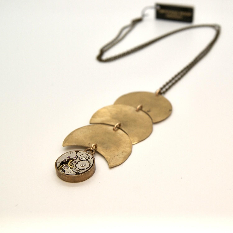 Clockwork REFLECTIONS Necklace, Brass & Bronze