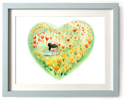 Poppy Love, 8x10 Art Print