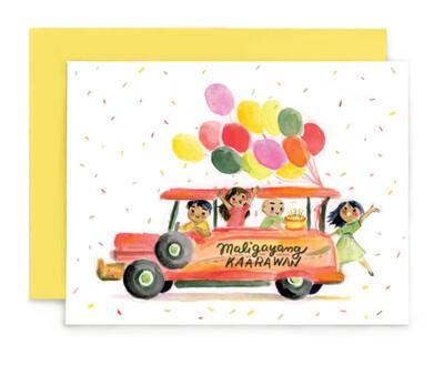 Maligayang Kaarawan Jeepney Card