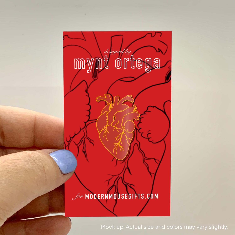 PREORDER - Enamel Pin, Anatomical Heart