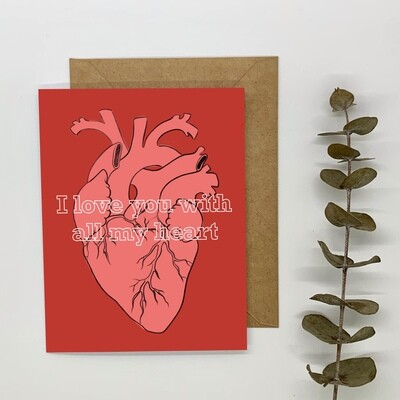 PREORDER - Card, All My Heart