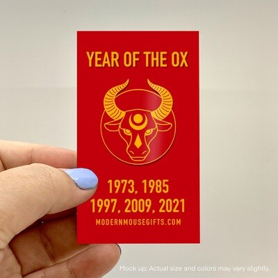 PREORDER Enamel Pin, Year of the Ox