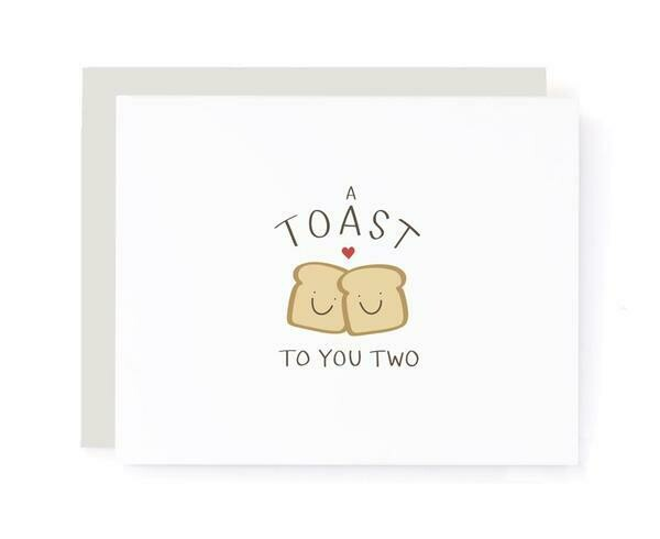 A Toast to You Two, Wedding Card