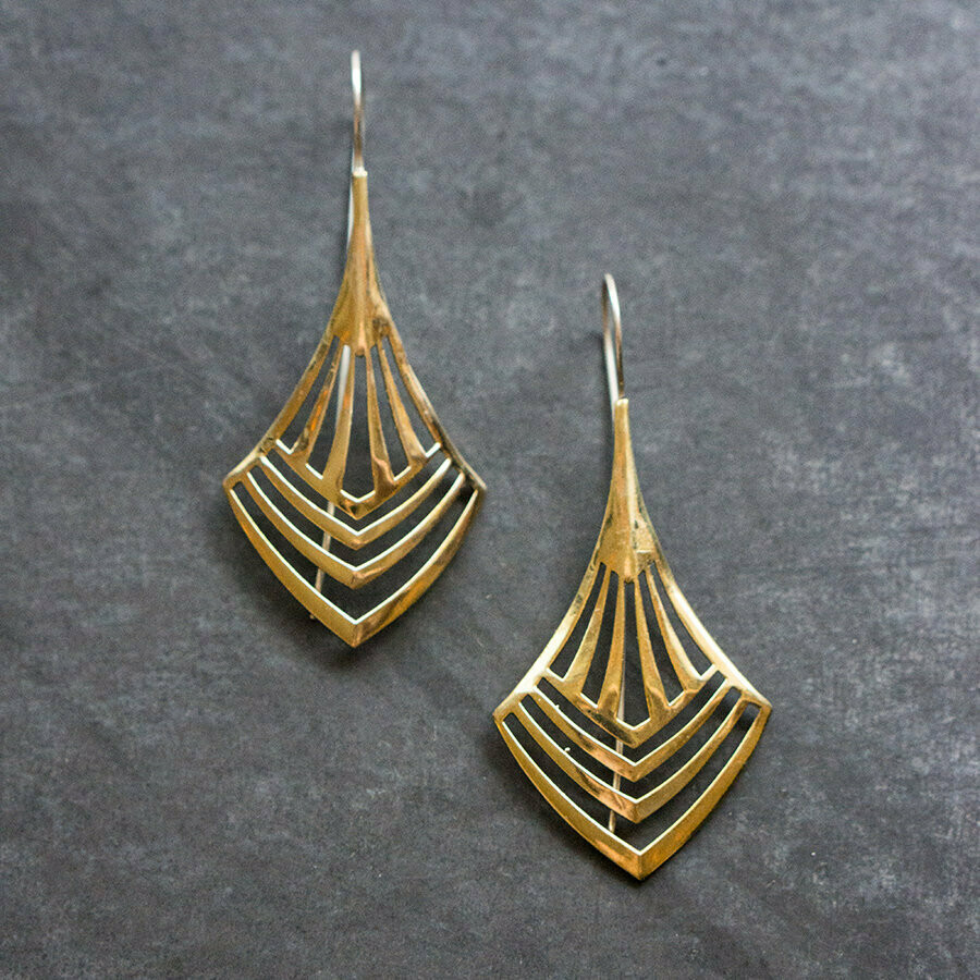 Art Deco Drops, Brass