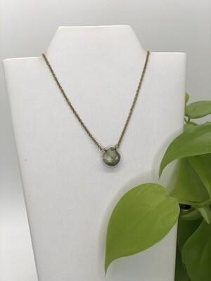 Minimalist Dew Drop Necklace - Labradorite