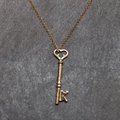 Brass Key Necklace - Large