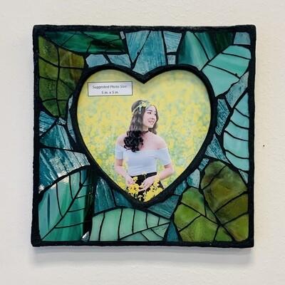 Handmade Mosaic Frame - Leaves