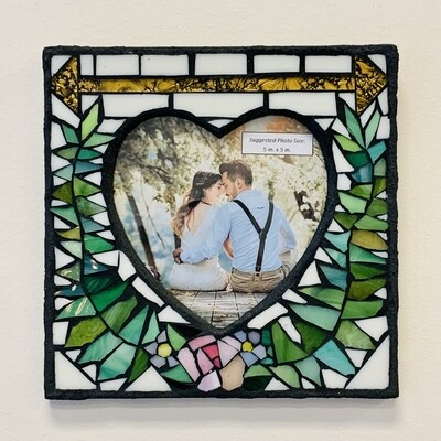 Handmade Mosaic Frame - Ferns