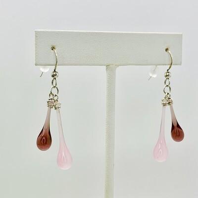 Rosy Pink Duet Earrings