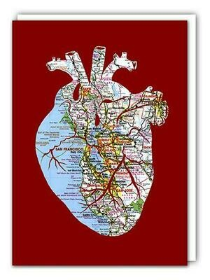 Heart of the Bay, Greeting Card