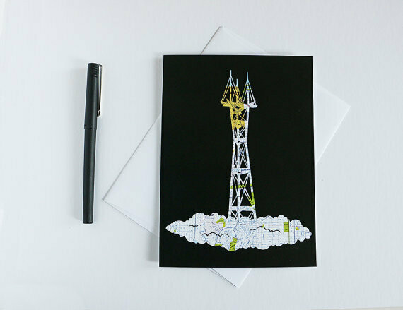 Sutro Tower, Greeting Card