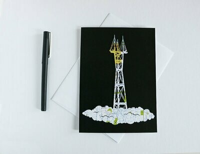 Sutro Tower, Greeting Card