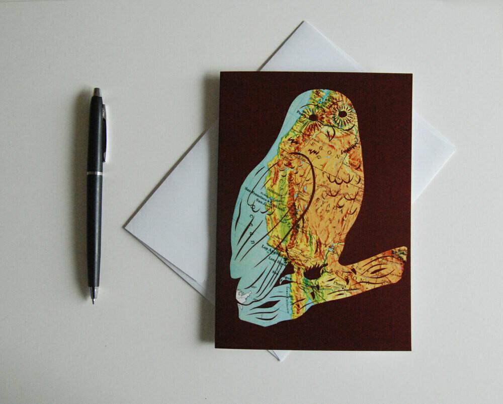 West Coast Owl, Greeting Card