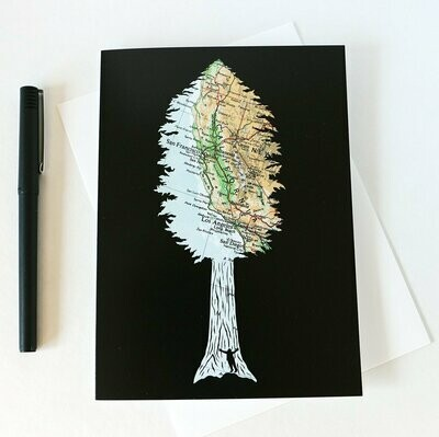 Be Giant Redwood Tree, Greeting Card