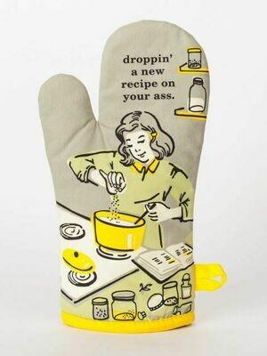 Droppin a Recipe Oven Mitt
