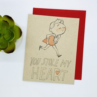 You Stole My Heart Card - Bowtie