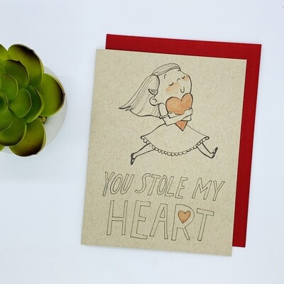 You Stole My Heart Card - Girl