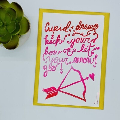 Cupid Draw Back Your Bow Card