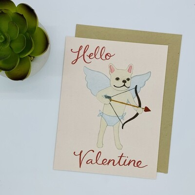 Frenchie Cupid Card Single Card