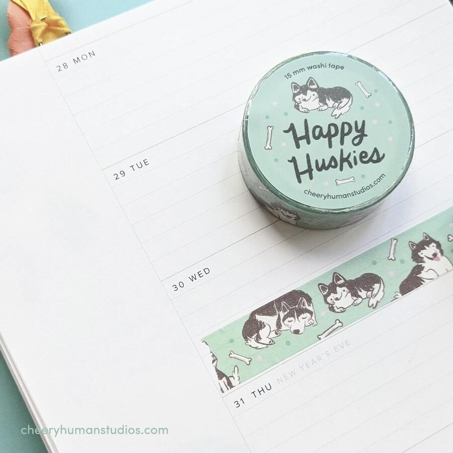 Washi Tape, Happy Huskies