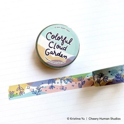 Washi Tape, Colorful Cloud Garden