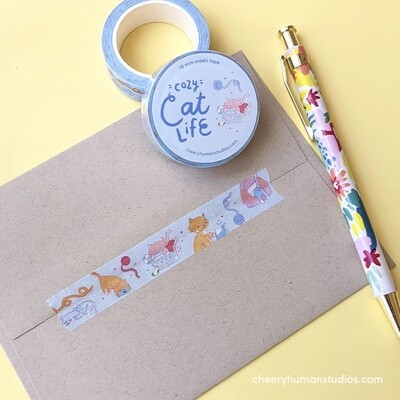 Washi Tape, Cozy Cat Life