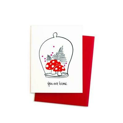 You Are Home Mushrooms Cloche, Single Card