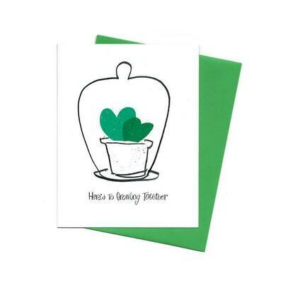 Growing Together Sweetheart Hoya, Single Card