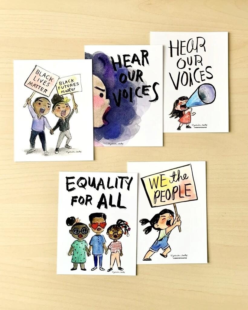 Protest Postcards, Set of 5